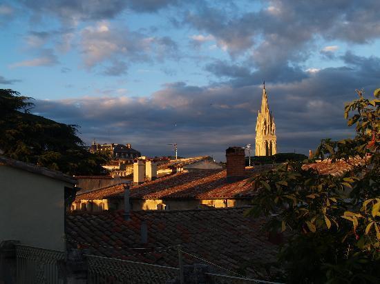 Ma Chambre d'Hotes a Montpellier: vue depuis la terrasse haute