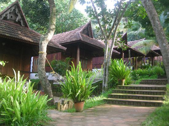 Chowara, Inde : cottages in a garden