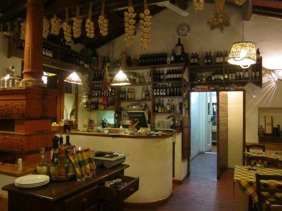 Trattoria La Baracchina: The inside