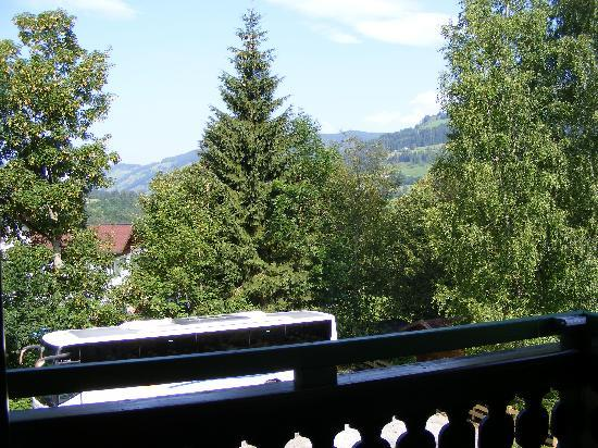 Wagrain, Avusturya: view from balcony