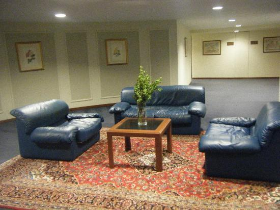 Capsis Hotel Rhodes : Dated furniture & stained carpets near lifts