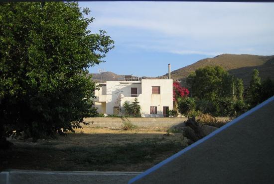 Koralli Studios: View from back veranda/ clothesline
