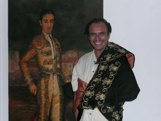 El Matador: Owner Pablo Velez w/his Matador Cape