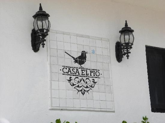 Casa el Pio: Sign outside