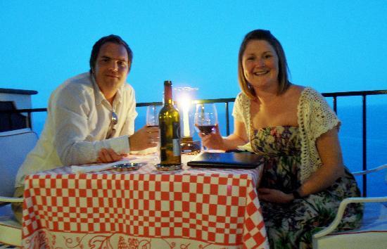 Ristorante Villa Cipriani: My wife and I in Villa Cipriani!