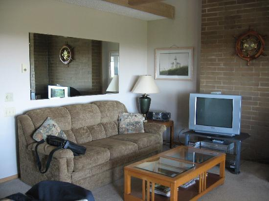 Grey Gull: Sofa and TV