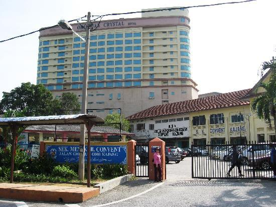 Oriental Crystal Hotel: The hotel overlooked my wife's old school