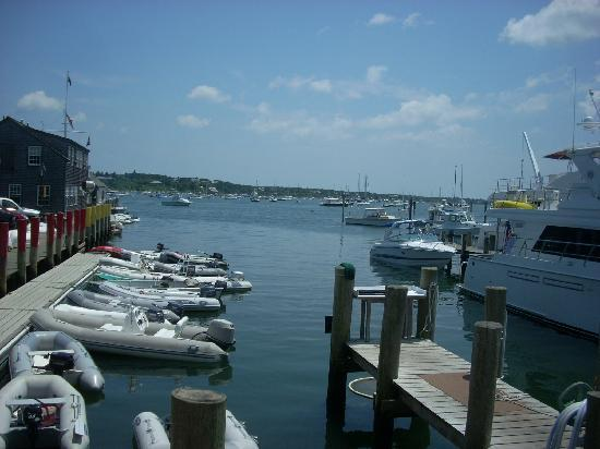 Atlantic Fish & Chop House: The view of the harbor from one of the terrace dining areas at Atlantic.
