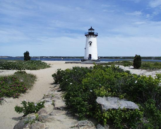 Edgartown, MA: The lighthouse stands 45 feet high and is constructed of cast iron.