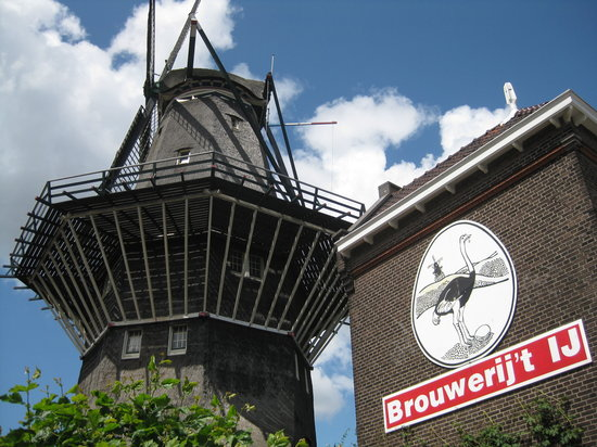 Brouwerij 't IJ: Brewhouse and windmill