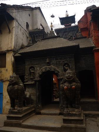 Golden Temple (Hiranya Varna Mahavihar): The front of the temple