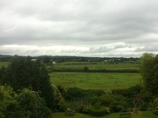 Higher Huxley Hall: view from our room