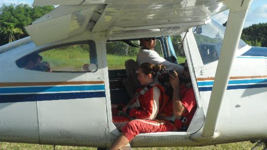 Skydive Mauritius: In the plane