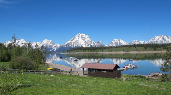 Signal Mountain Campground: View from Jackson Lake, Signal Mountain