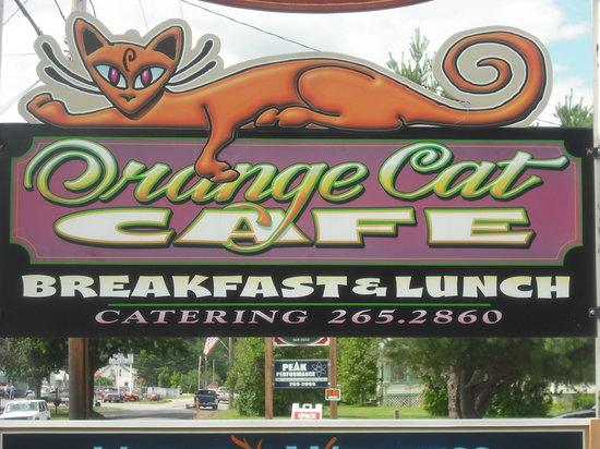 Orange Cat Cafe: sign (blown up)