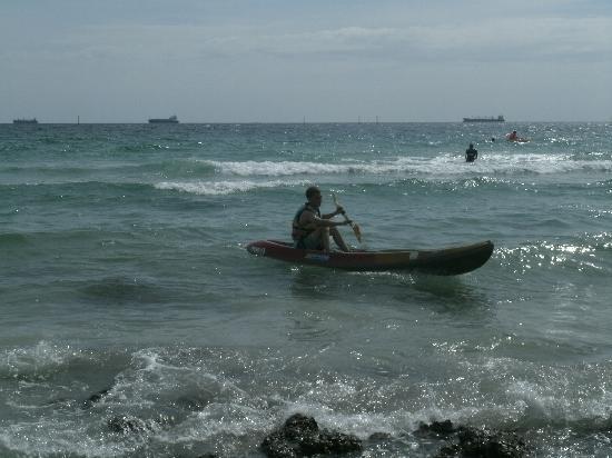 Ko Si Chang, Thaïlande : me canoeing