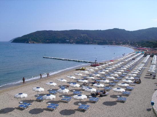 Procchio, Italia: Spiaggia.Una delusione!