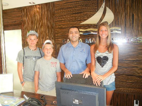 Santa Maria Suites Hotel: Nordy with the kids..He made our trip fun, planning everything for us from our meals to our excu