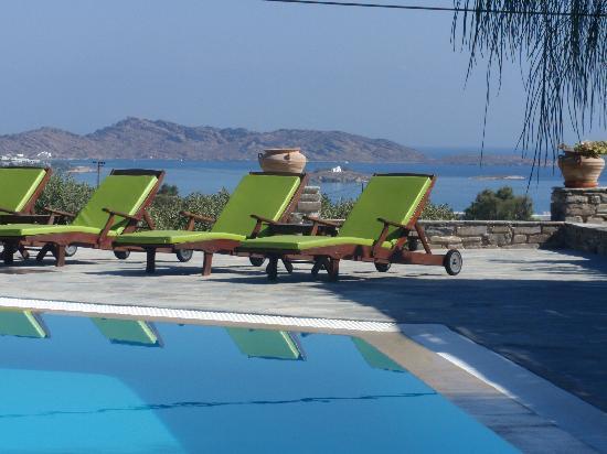 Ξενοδοχείο Πέτρες: toujours la piscine avec vue sur mer
