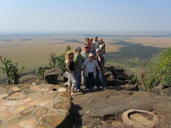 Mara West Camp: part of our group - overlooking the Mara