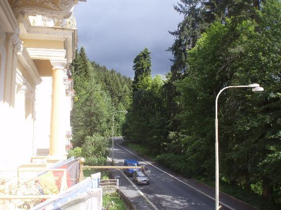 Hotel Villa Gloria Marienbad: Blick aus dem Balkon