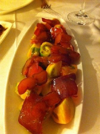 Meson El Granaino: tomate con salazones