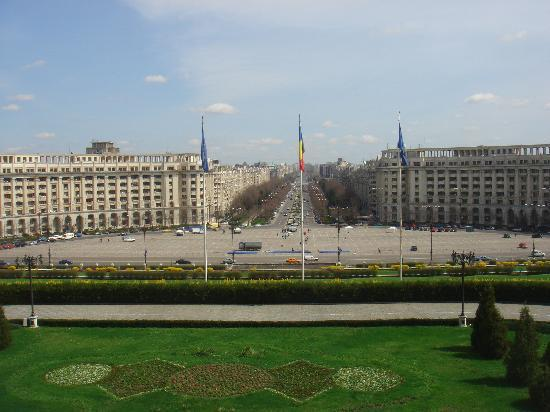 Bükreş, Romanya: vista dal palazzo di ceausescu