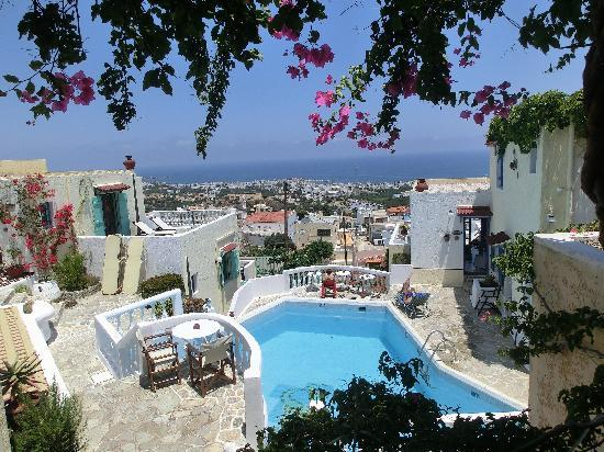 View from the balcony, over Hersonissos and the sea