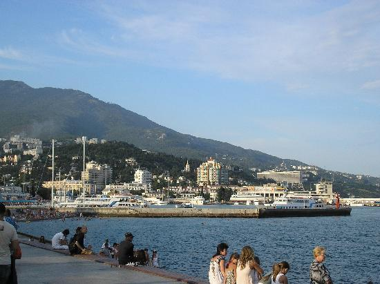 Yalta Intourist Hotel: hotel view from Yalta