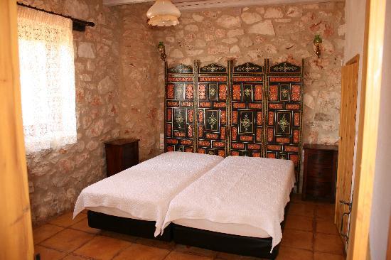 Orfos Villas: Schlafzimmer im Erdgeschoß