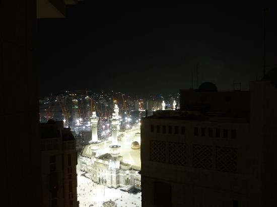 Makkah Hilton Hotel: View from the room at night
