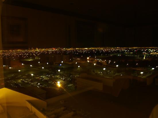 Suncoast Hotel and Casino: View at night from top floor suite.