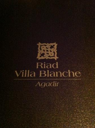 Riad Villa Blanche : le menu tant delicieux