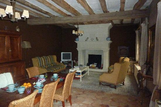 Langeais, France: Le CLos Rabelais, the lounge and breakfast area!