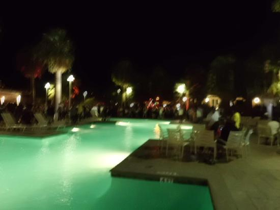 Rancho Mirage, CA: Pool at night