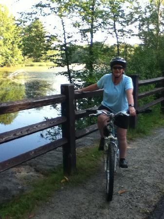 Ashuwillticook Rail Trail: Along the way the scenery is great
