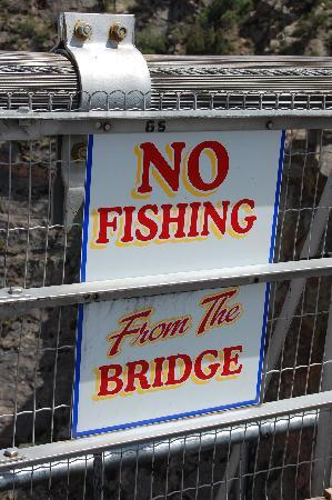 Royal Gorge Bridge and Park: A little humor...