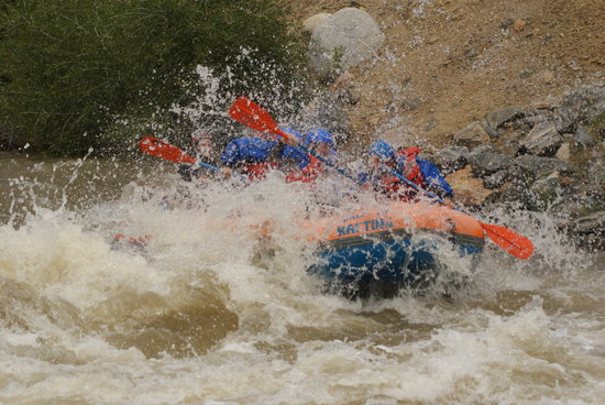 Dumont, CO: class III rapids... about the roughest it got