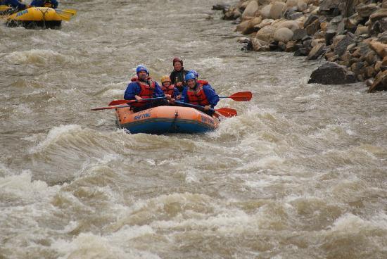 Mile Hi Rafting: our rafting group