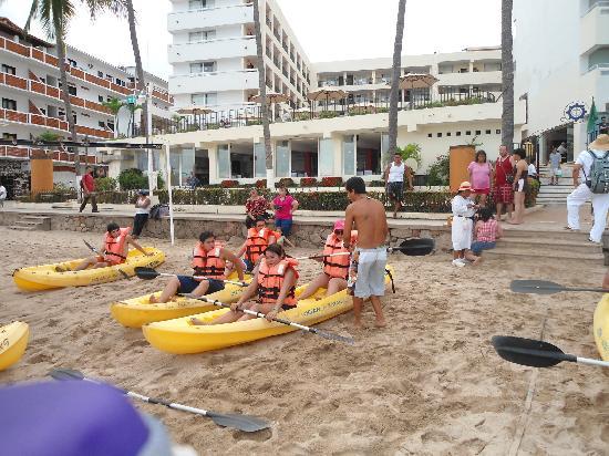 San Marino Hotel: Actividad en kayak, excelente.