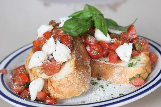 Backstreet Simply Delicious: Bruschetta topped w/jumbo lump crab