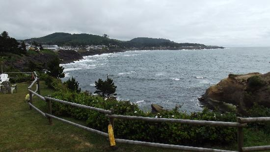 Depoe Bay, OR: View out the window of Room 6