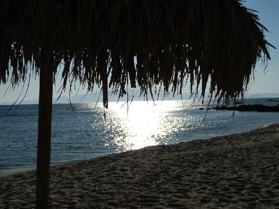 Aeolos Sunny Villas: Tramonto in spiaggia