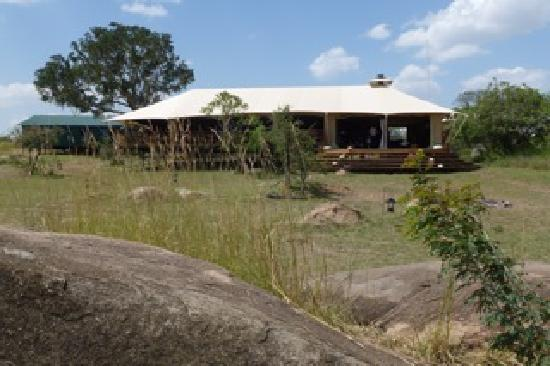 Serengeti Bushtops Camp: The mess tent where the delicious a la carte meals were served