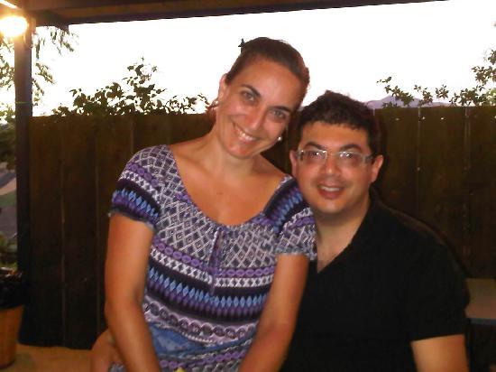 Locanda Tanarizzi: My wife and I following dinner on the terrace