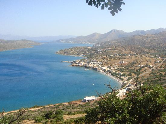 Olive Grove Apartments: View from the hill overlooking Plaka & Elounda