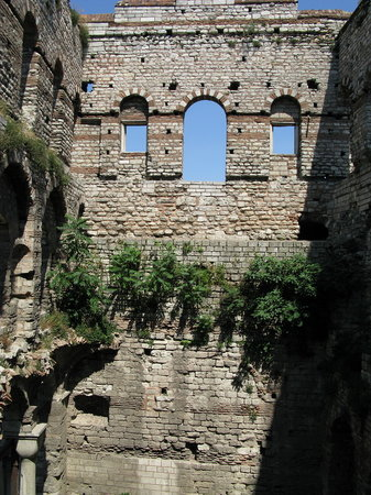 Turkey: Tekfur Sarayi inner walls