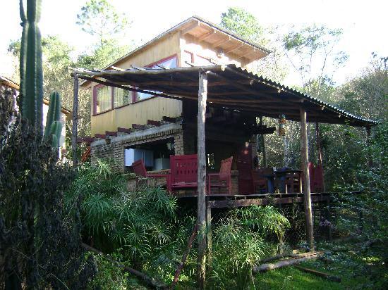Refugio Verde: La cabaña Guayuvira desde el arroyo
