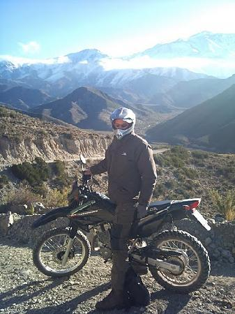 Mendoza Moto Aventura Day Tours: @the foot of the Andes on route 89