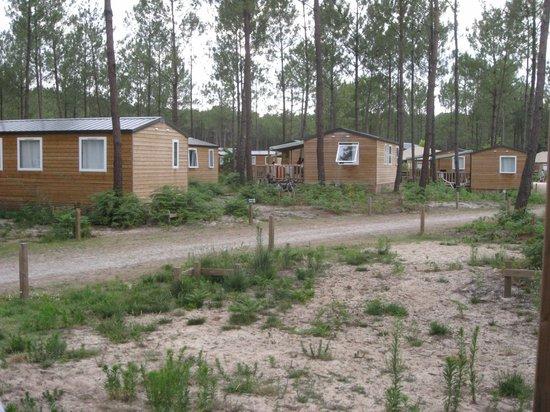Camping Sandaya Soustons Village: Bungalow trop proches, sans intimité